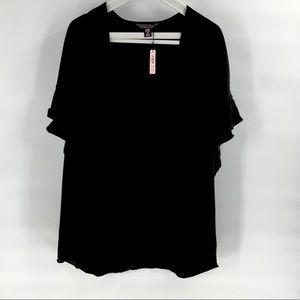 NWT Victoria's Secret Black Satin Kimono Robe